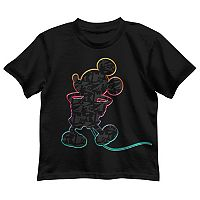 Disney's Mickey Mouse Boys 4-7 Mic Abstract Graphic Tee
