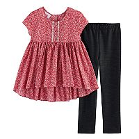 Girls 4-6x Marmellata Classics Print High-Low Top & Leggings Set
