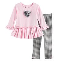 Girls 4-6x Marmellata Classics Ruffle Top & Gingham Leggings Set