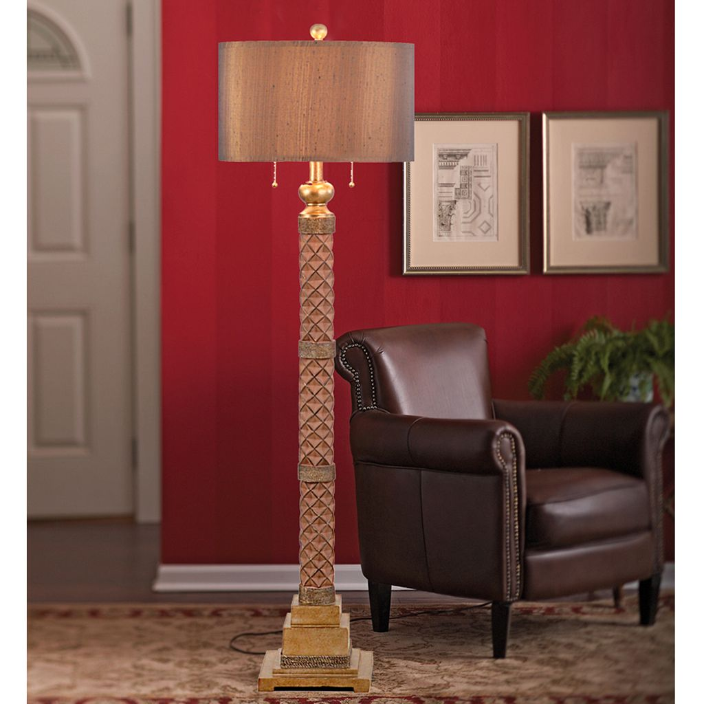 Catalina Lighting Textured Bronze Finish Floor Lamp