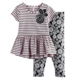 Girls 4-6x Marmellata Classics Striped Peplum-Hem Tunic & Leggings Set