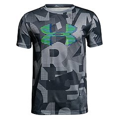 Boys 8-20 Under Armour Printed Big Logo Tee