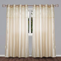 Portsmouth Home 1-Panel Keira Laser-Cut Curtain