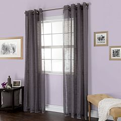 Portsmouth Home 1-Panel Mia Jacquard Window Curtain