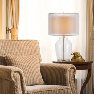 Catalina Lighting Double Shade Glass Table Lamp