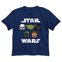 Boys 4-7 Star Wars Chewbacca, Darth Vader, Yoda & Stormtrooper Graphic Tee