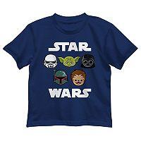 Boys 4-7 Star Wars Chewbacca, Darth Vader, Yoda & Stormtrooper Graphic Tee