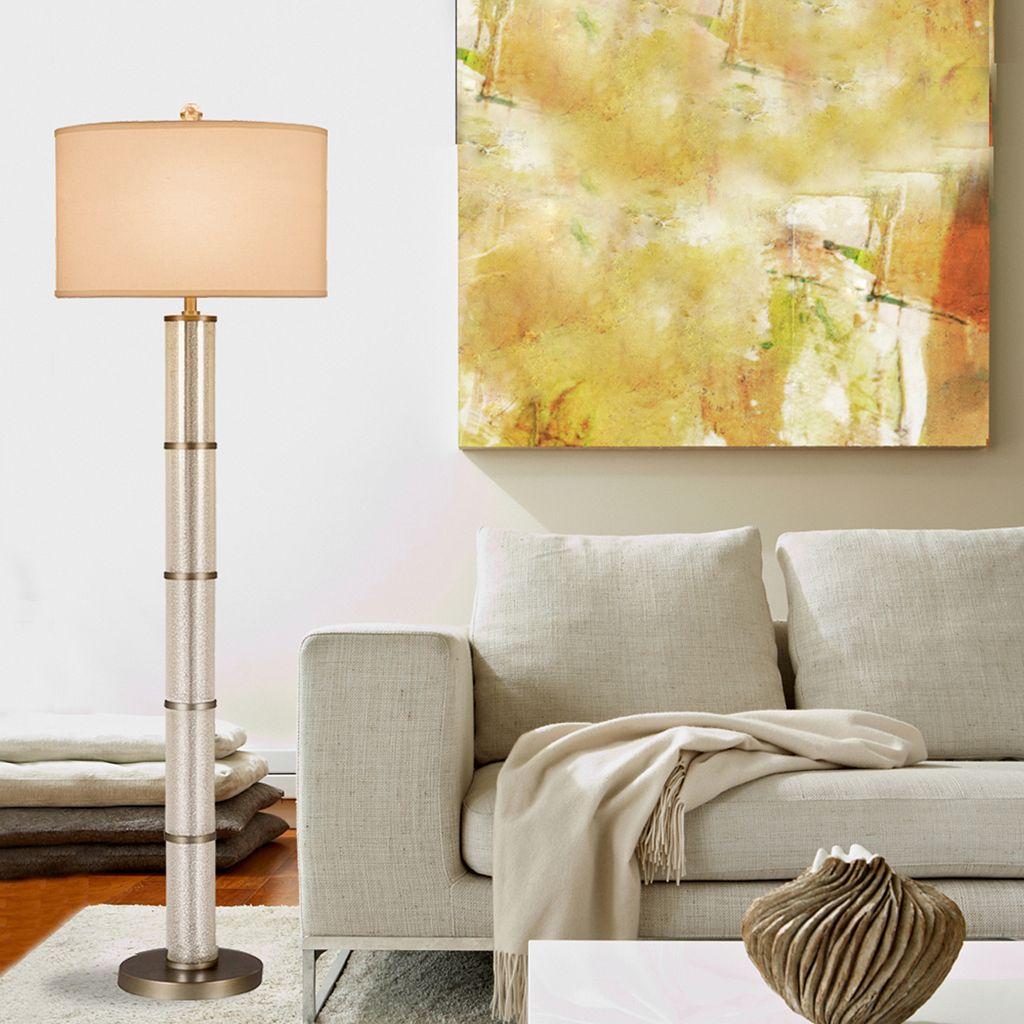 Catalina Lighting Mercury Glass Cylinder Floor Lamp