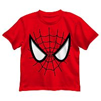Boys 4-7 Marvel Spider-Man Face Red Graphic Tee