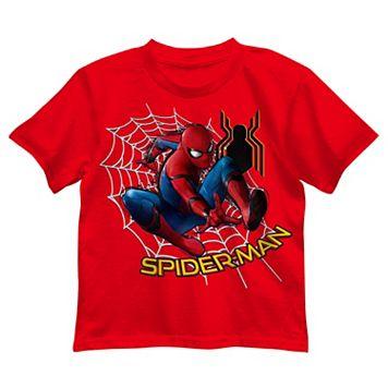 Boys 4-7 Marvel Spider-Man Web Graphic Tee