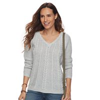 Petite SONOMA Goods for Life™ Cable-Knit Sweater