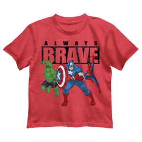 Boys 4-7 Marvel Avengers The Incredible Hulk, Captain America & Spider-Man Graphic Tee