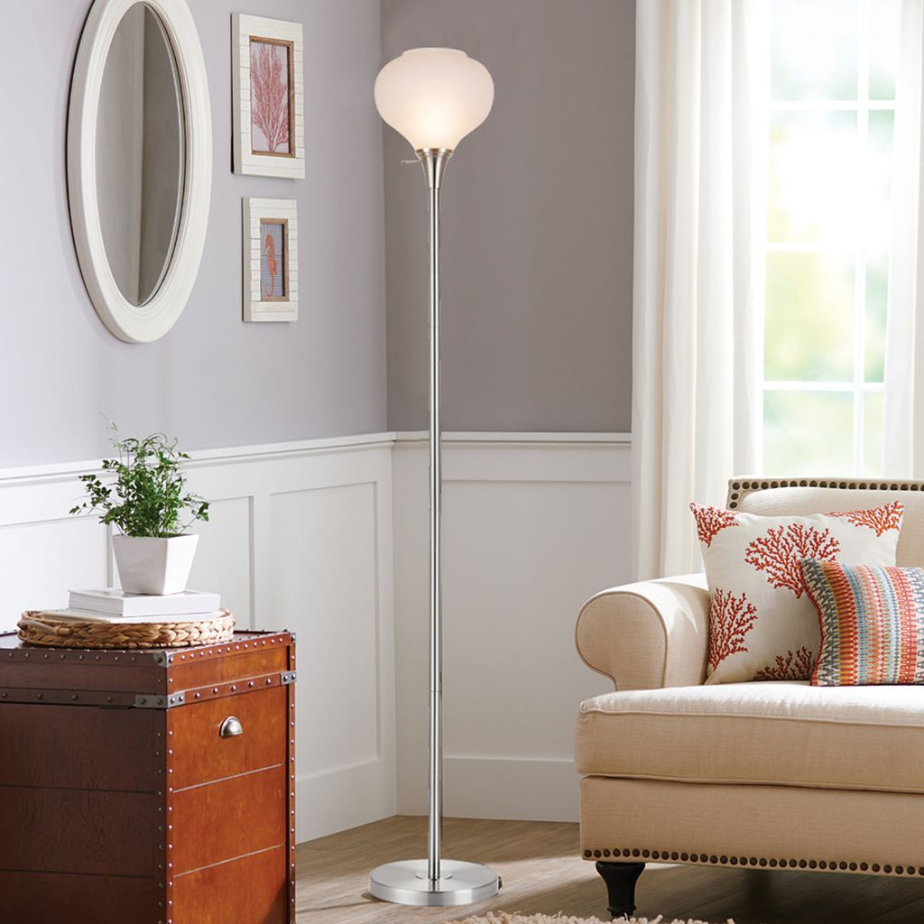 Catalina Lighting Frosted Glass Floor Lamp
