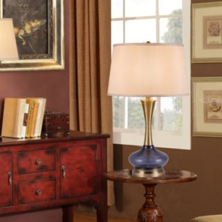 Catalina Lighting Contemporary Glass Table Lamp