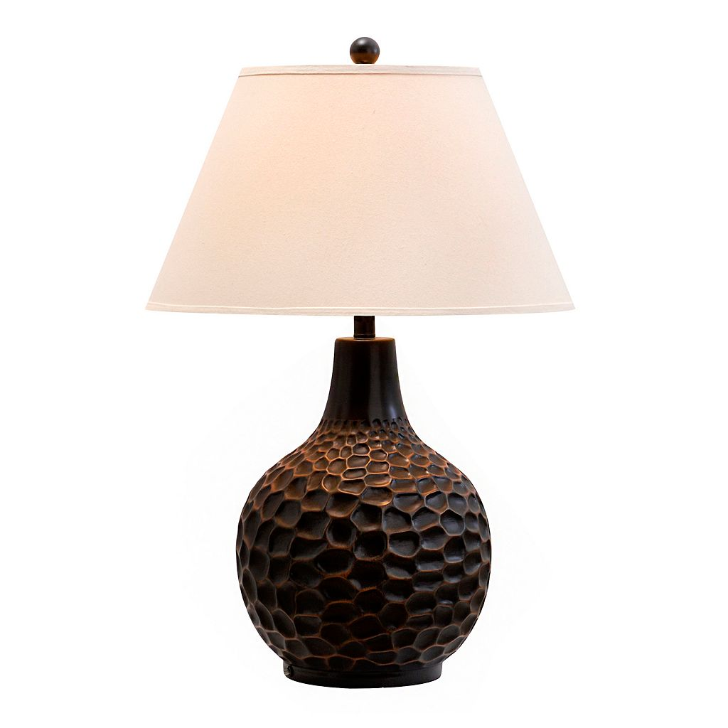 Catalina Lighting Textured Orb Table Lamp