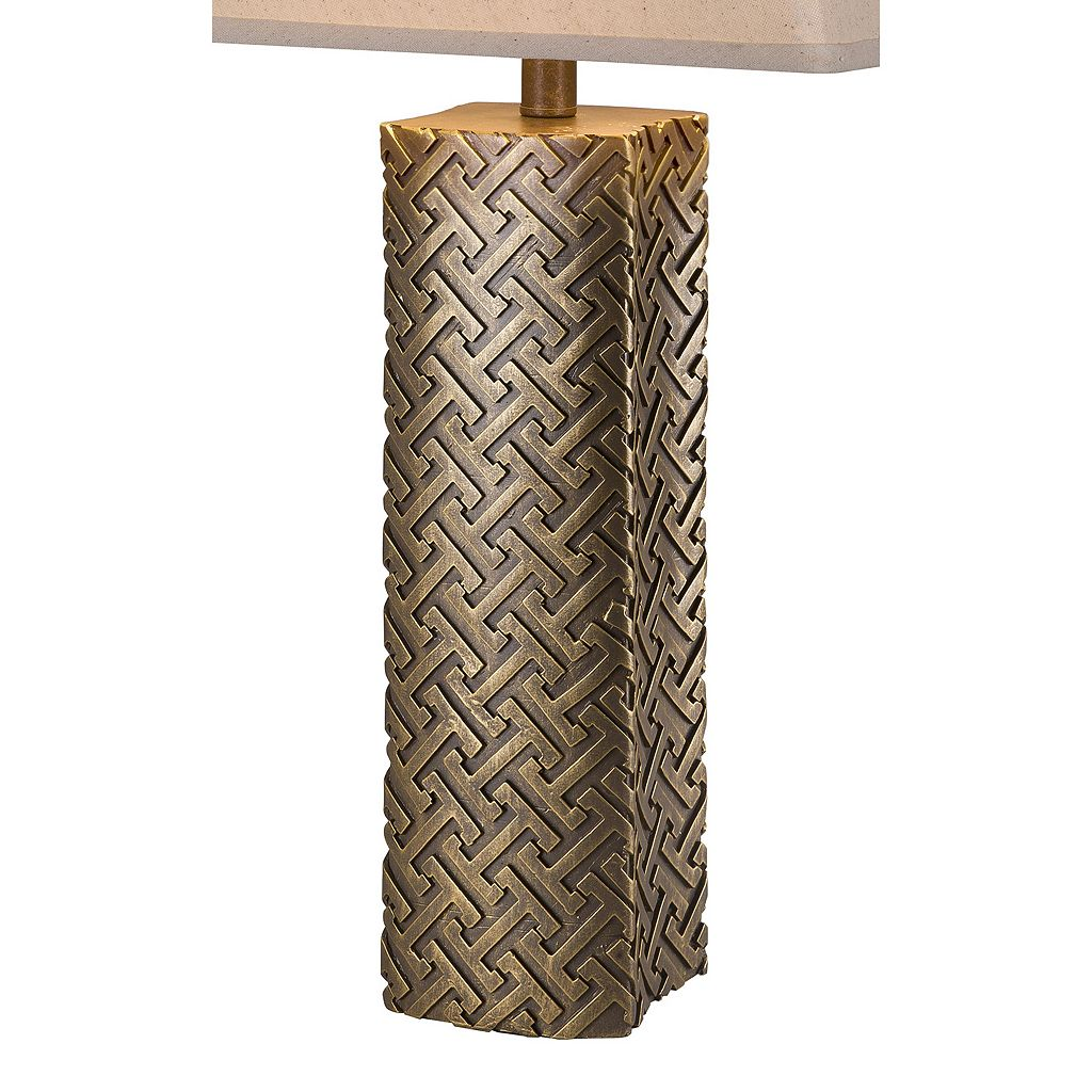 Catalina Lighting Embossed Gold Finish Table Lamp