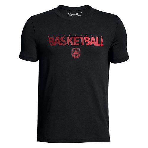 Boys 8-20 Under Armour Basketball Wordmark Tee