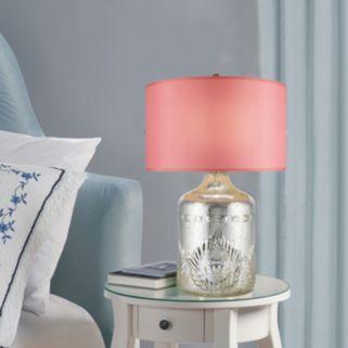 Catalina Lighting Chrome Glass Table Lamp