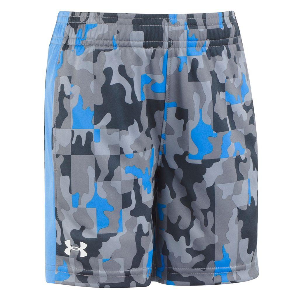 Boys 4-7 Under Armour Camouflaged Logo Athletic Shorts
