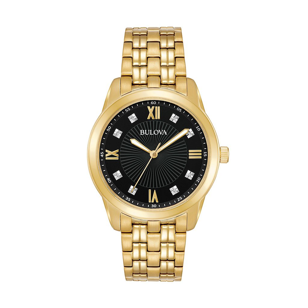 Bulova Men's Diamond Stainless Steel Watch - 97D113