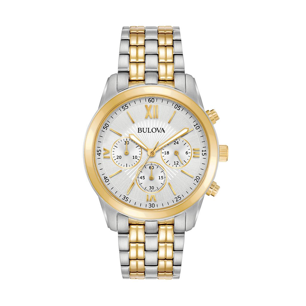 Bulova Men's Two-Tone Stainless Steel Chronograph Watch - 98A169
