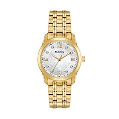 Bulova Women's Diamond Stainless Steel Watch - 97P118