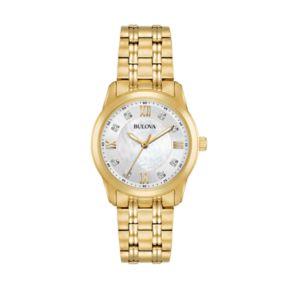 Bulova Women's Diamond Stainless Steel Watch - 97P118