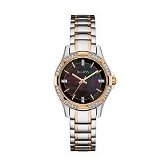Bulova Women's Crystal Two-Tone Stainless Steel Watch - 98L219