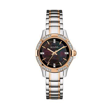 Bulova Women's Crystal Two-Tone Stainless Steel Watch - 98L219