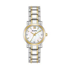 Bulova Women's Diamond Two-Tone Stainless Steel Watch - 98P165