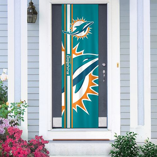 Miami Dolphins Two-Sided Door Wrap