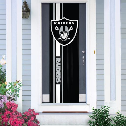 Oakland Raiders Two-Sided Door Wrap