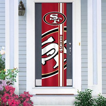 San Francisco 49ers Two-Sided Door Wrap