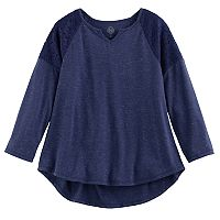 Girls 7-16 & Plus Size SO® Crochet Lace Shoulder Top