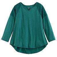 Girls 7-16 & Plus Size SO® Crochet Lace Shoulder Top