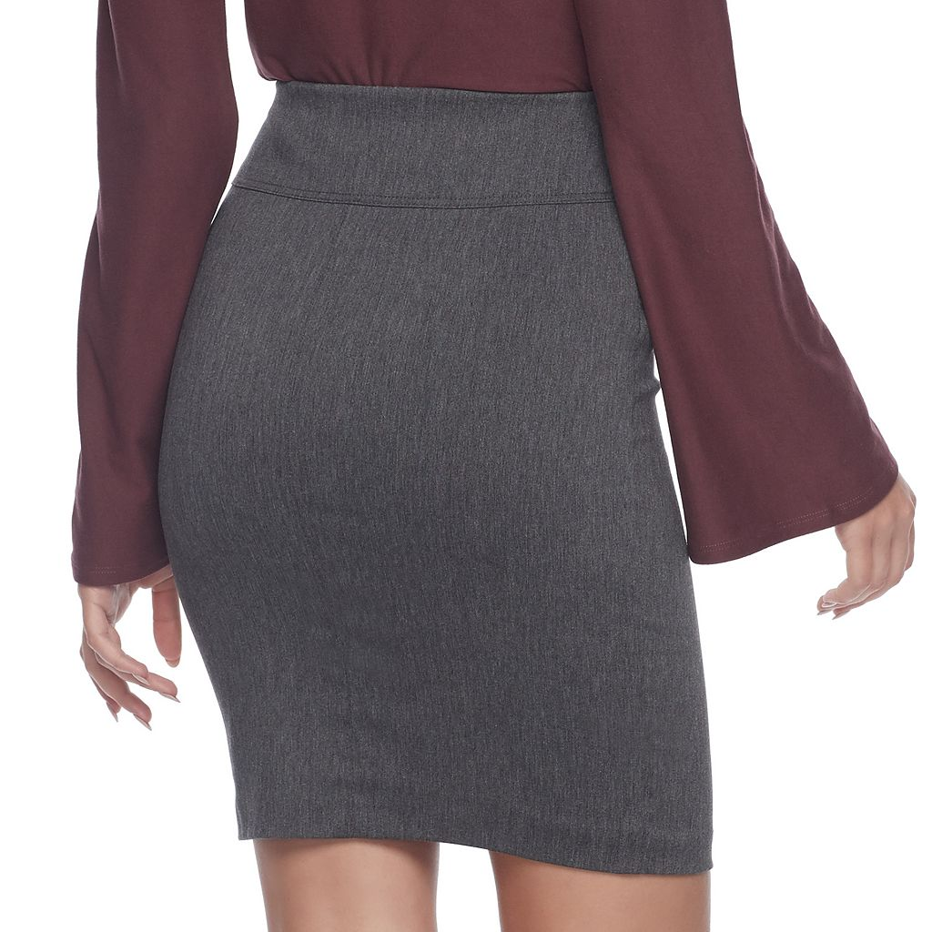 Juniors' Joe B Zipper Pocket Pencil Skirt