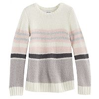 Girls 4-12 SONOMA Goods for Life™ Striped Sparkle Sweater