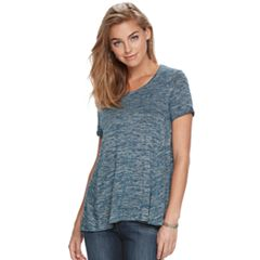 Women's Apt. 9® Marled High-Low Tee
