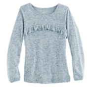 Girls 4-12 SONOMA Goods for Life? Curved Ruffle Marled Top