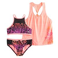 Girls 7-14 ZeroXposur 3 pc Bikini Set