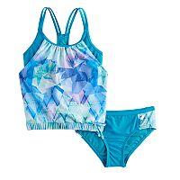 Girls 7-16 ZeroXposur Blouson Bikini Set