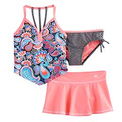 Girls 7-16 ZeroXposure 3-pc. Printed Tankini Set
