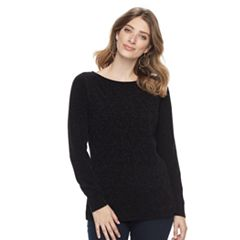 Women's Croft & Barrow® Basketweave Boatneck Sweater