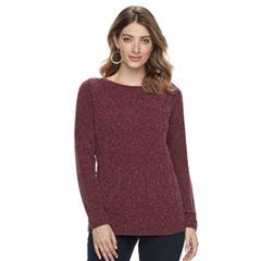 Women's Croft & Barrow® Basketweave Boatneck Sweater