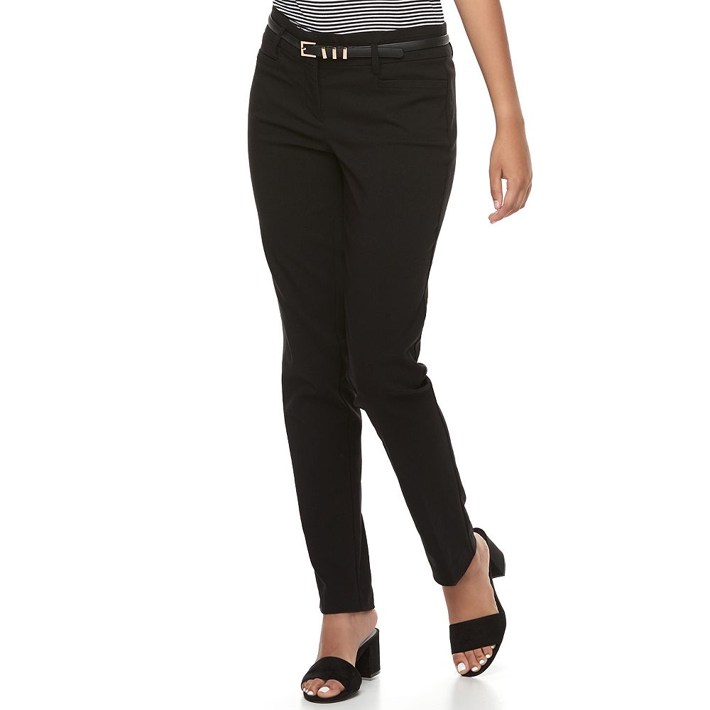 Juniors' Candie's® Audrey Black Low Rise Skinny Dress Pants