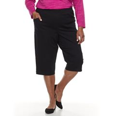 Plus Size Croft & Barrow® Mini Tab Rivet Capri Pants