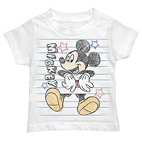 Disney's Mickey Mouse Toddler Boy Scribbled Notebook Graphic Tee