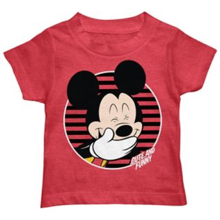 Disney's Mickey Mouse Toddler Boy Laughing Mickey Graphic Tee