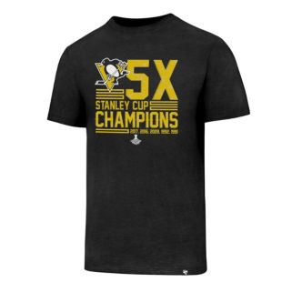Men's '47 Brand Pittsburgh Penguins 5x Stanley Cup Champions Tee