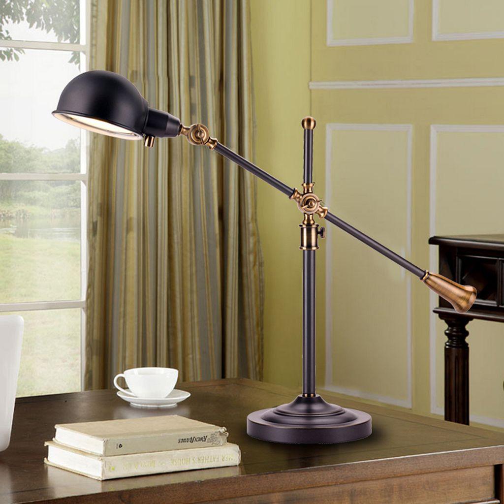 Catalina Lighting Heritage Adjustable Dimmer LED Desk Lamp